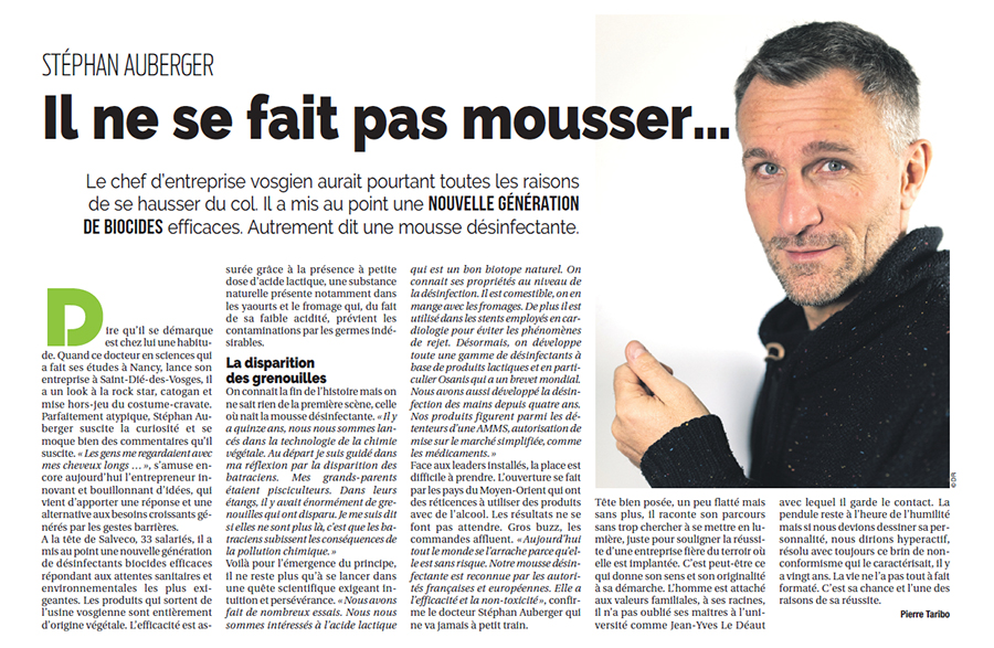 stephan Auberger sur le magazine du Grand Nancy